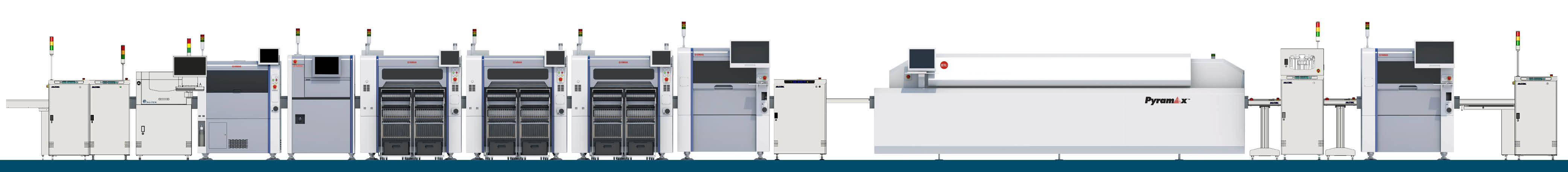 complete SMT line with line machinery all from CORE-emt