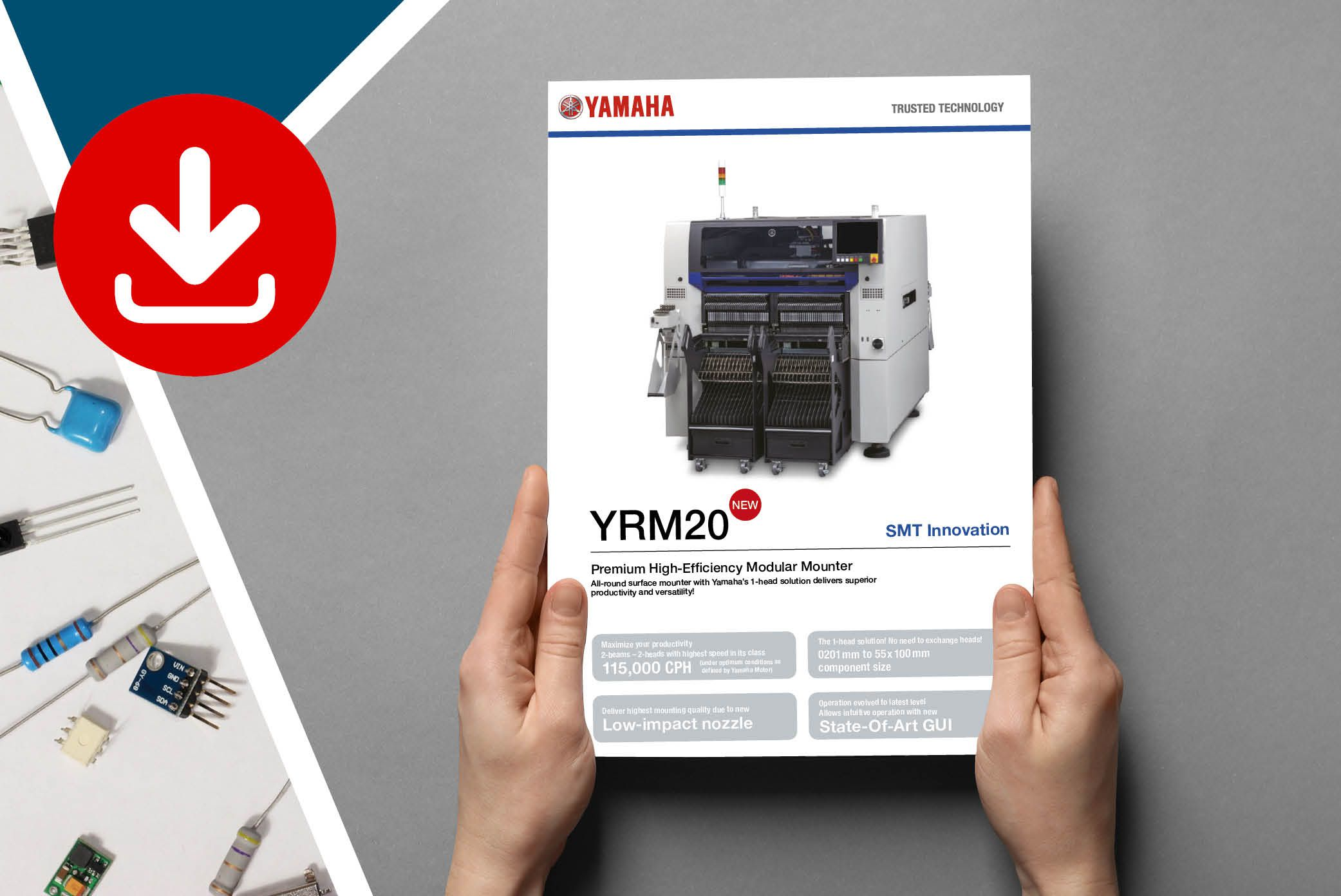 YAMAHA YRM20 flyer with specifications can be downloaded here