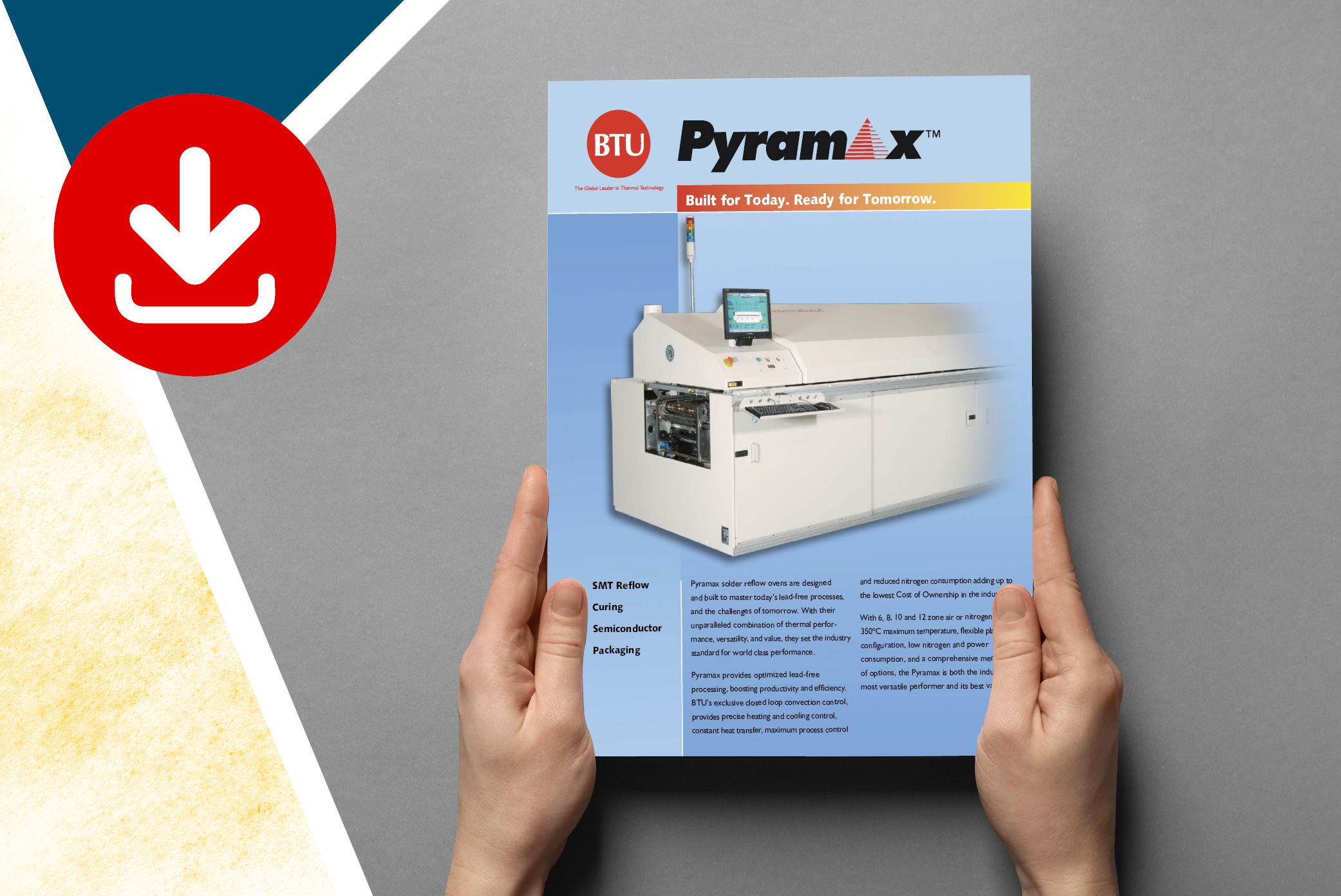 Download full range brochure of Pyramax reflow ovens