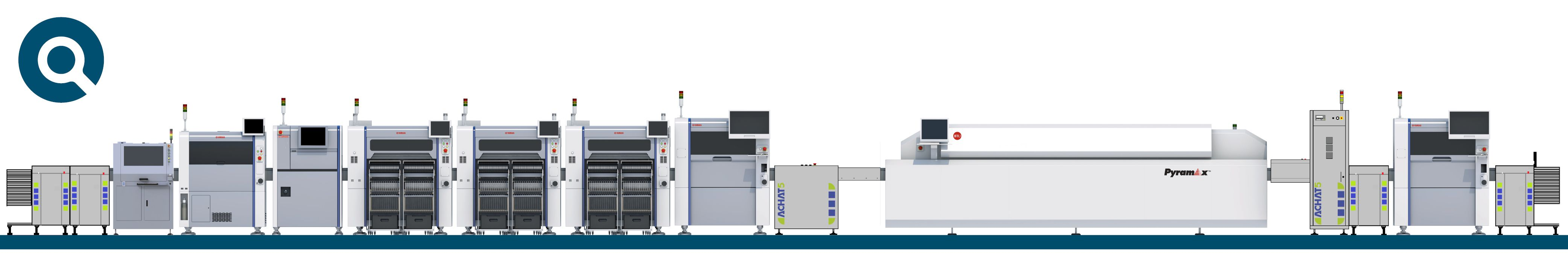 SMT line machinery displayed at Productronica that CORE-emt supply