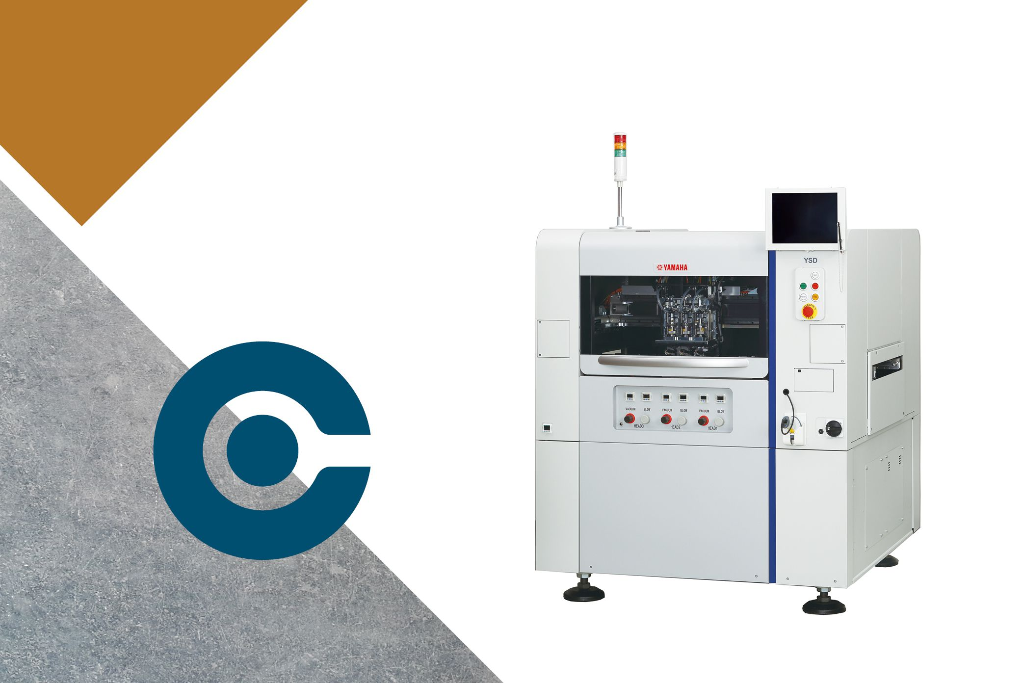 SMT line-up solder paste dispensing units