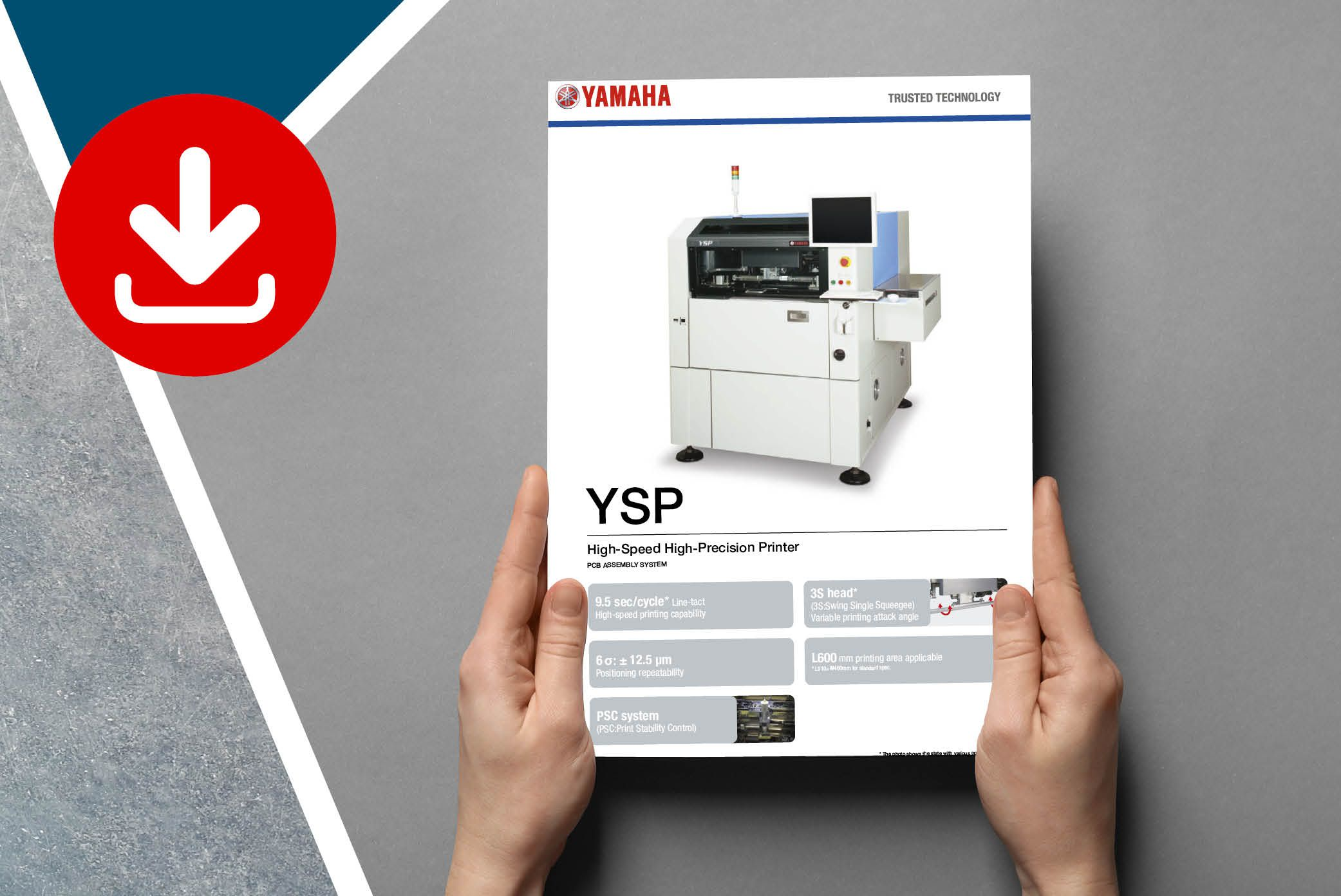 Find spec sheet to download for the YAMAHA YSP screen printer
