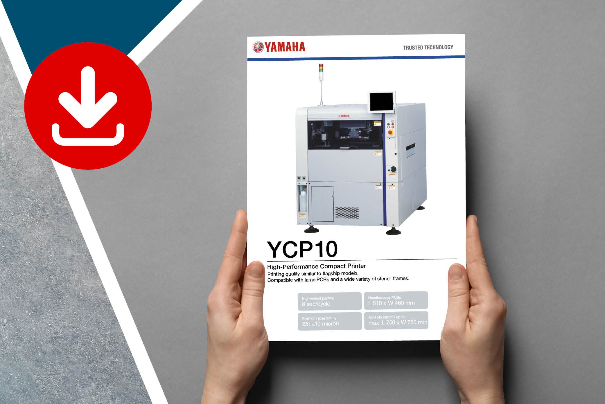 Download SPI specifications on YAMAHA YCP10 Screen Printer