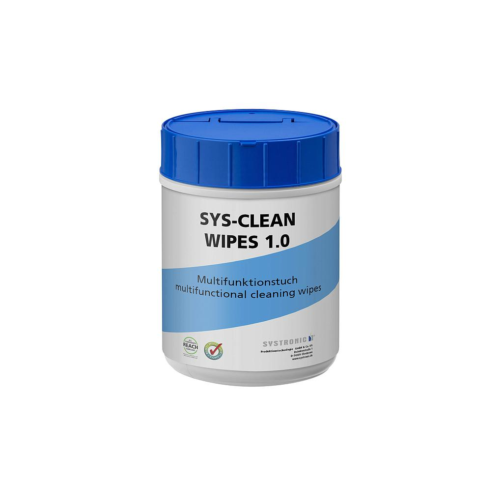 SYS-CLEAN 100 wipes, stencil + steel surface cleaning